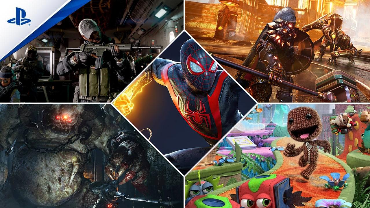 Giochi Call of Duty Sackboy Spider-Man Demon's Souls Godfall