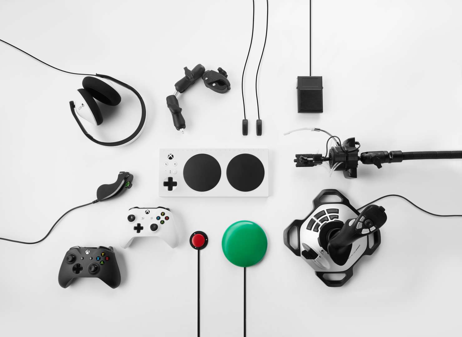 Microsoft Xbox Adaptive Controller and Equipment Full Lineup console