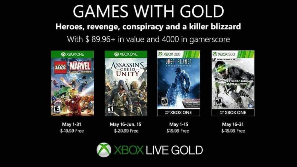 games with gold di maggio 2019, xbox 360, xbox one, giochi, xbox live gold