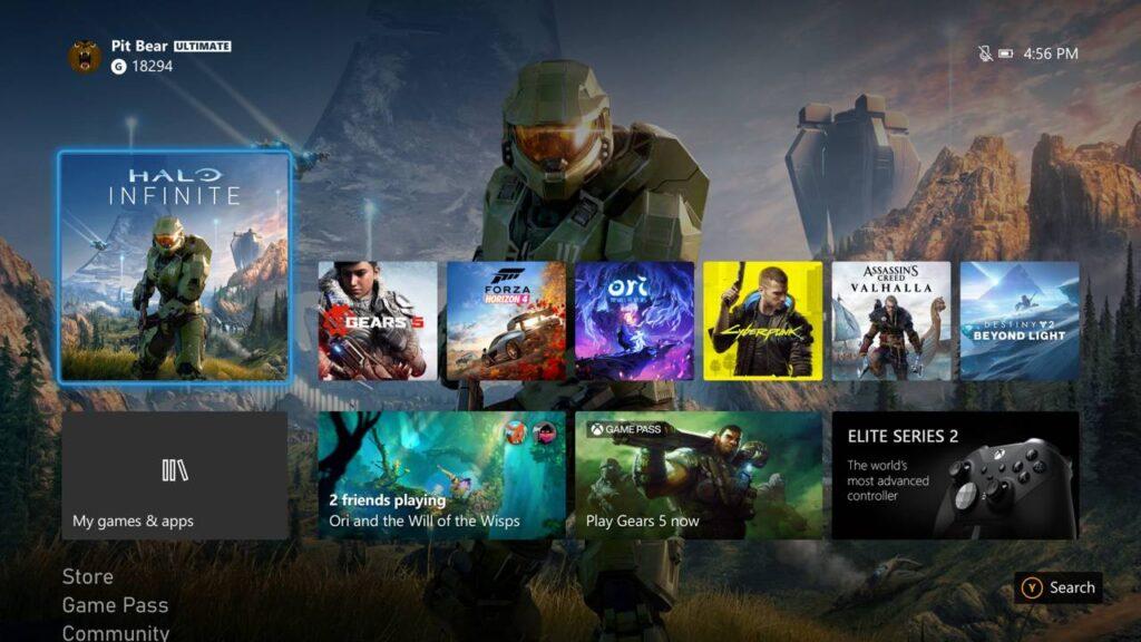 Xbox Series X-UI