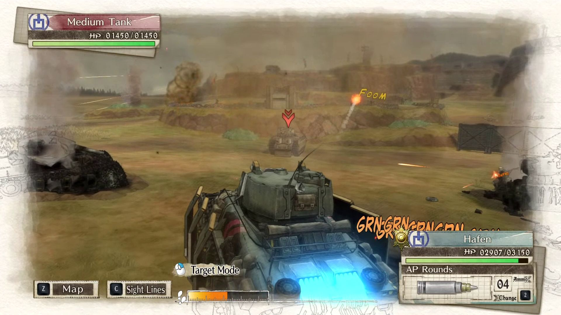Valkyria Chronicles 4 battlefield