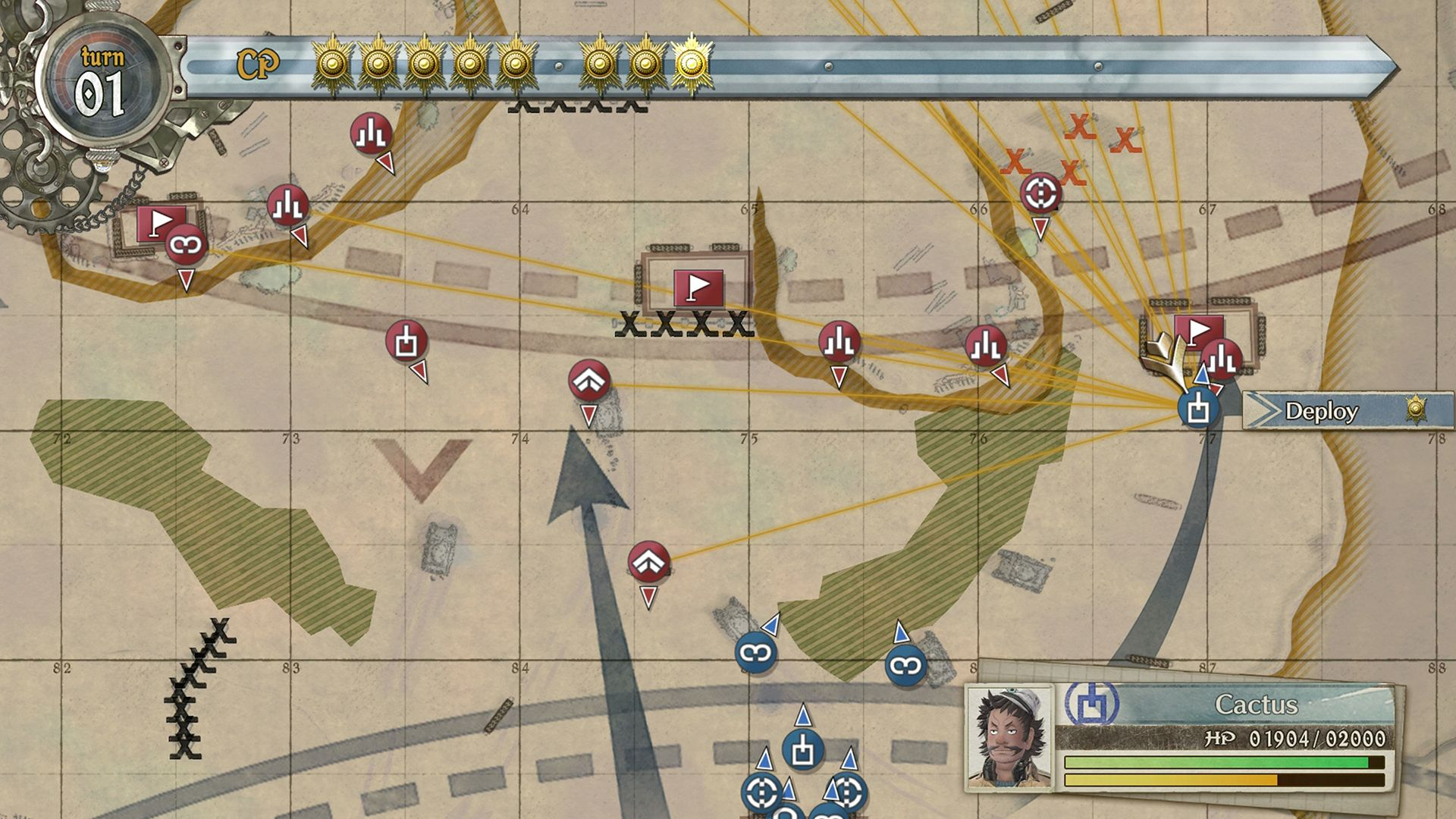 Valkyria Chronicles 4 map