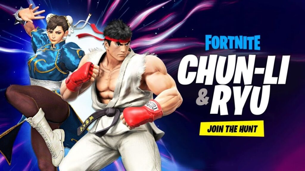 Fortnite-Street Fighter 2-Ryu-Chun-Li