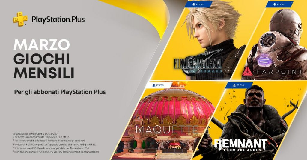 PlayStation Plus-Marzo