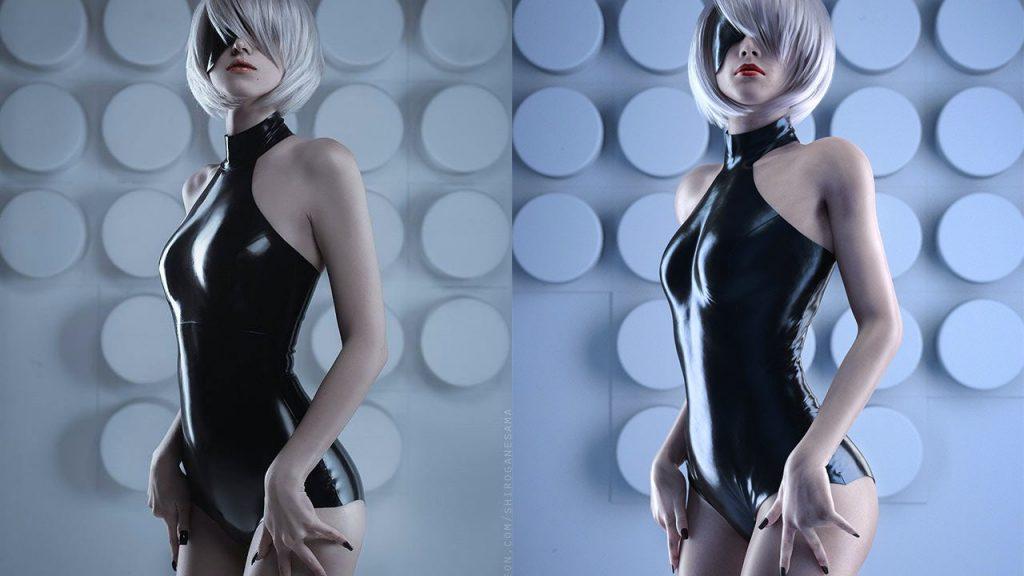 NieR-Automata-2B-Shirogane-cosplay