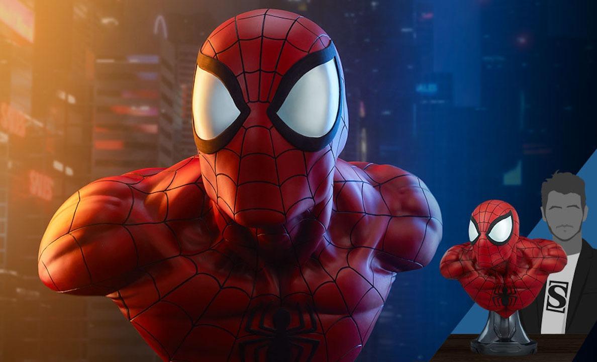 Spider-Man-Sideshow-busto Life-Size