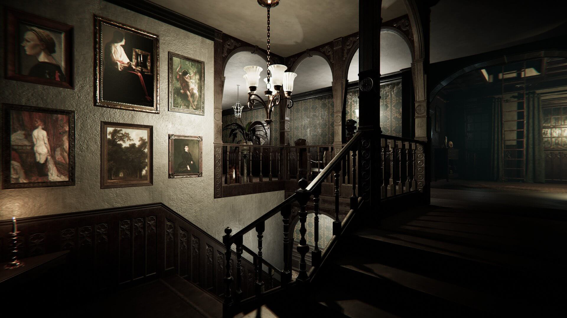 Gli elaborati interni della villa del Culto dell'Estasi.