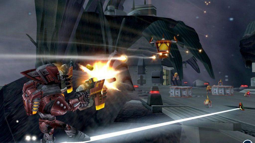 Screenshoot di Ratchet Gladiator, un gioco della serie di Ratchet & Clank sviluppato da Insomniac Games pubblicato a ottobre 2005 per Playstation 2.