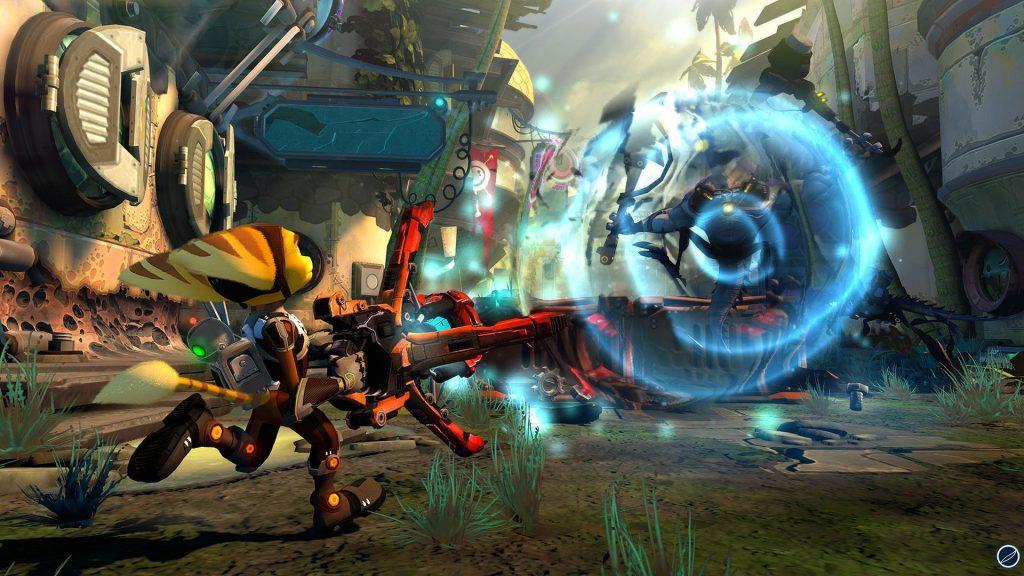 Uno screenshoot di Ratchet & Clank: Nexus, titolo della Future Saga di Insomniac games uscito nel novembre del 2013 per Playstation 3